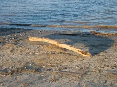 Vom Westen droht Ungemach, aber noch lädt der Strand zum Verweilen.